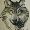 Happy Wolf Poster by Linda Diane Taylor