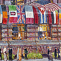 HASSAM: ALLIED FLAGS, 1917 Print by Granger