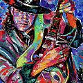 Hat And Guitar Print by Debra Hurd