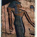 Hathor Holding the Ankh Sign Print by Bernice Williams