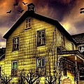 Haunted Halloween House Poster by Robin Pross