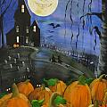 Haunted Night Poster by Sylvia Pimental