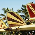 Hawaiian design surfboards Print by Vince Cavataio - Printscapes