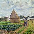 Haystacks Poster by Camille Pissarro