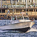 HDR Boat Boats Sea Ocean Fishing Jetty Boadwalk Photos Pictures Photography Scenic Landscape Pics Print by Pictures HDR