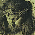 Head of Christ Print by Franz Von Stuck
