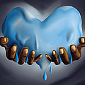 Heart Of Water Print by Kenal Louis