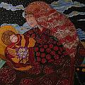 Heavenly Mother and Child Print by Dede Shamel Davalos