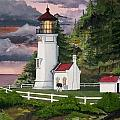 Heceta Head Lighthouse Poster by James Lyman
