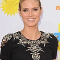 Heidi Klum At Arrivals For Nickelodeons Poster by Everett