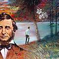 Henry David Thoreau Print by John Lautermilch