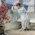 Her eyes are with her thoughts and they are far away Print by Sir Lawrence Alma-Tadema