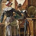 Her First Born Print by Walter Langley