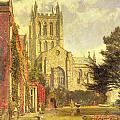 Hereford Cathedral Poster by John William Buxton Knight