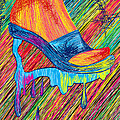 High Heels Abstraction Poster by Kenal Louis