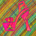 High Heels Power Poster by Kenal Louis