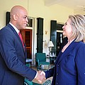 Hillary Clinton Meets With Haitian Poster by Everett
