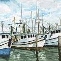 Hillman's Boats Print by Don Bosley