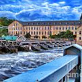 Historic Fox River Mills Print by Shutter Happens Photography
