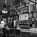 Historic Niles District in California Near Fremont . Bronco Billys Pizza Palace . 7D10707 . bw Print by Wingsdomain Art and Photography