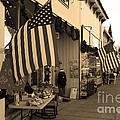 Historic Niles District in California Near Fremont . Main Street . Niles Boulevard . 7D10692 . sepia Print by Wingsdomain Art and Photography