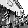Historic Niles District in California Near Fremont . Main Street . Niles Boulevard . 7D10693 . bw Print by Wingsdomain Art and Photography