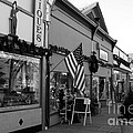 Historic Niles District in California Near Fremont . Main Street . Niles Boulevard . 7D10701 . bw Print by Wingsdomain Art and Photography