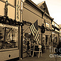 Historic Niles District in California Near Fremont . Main Street . Niles Boulevard . 7D10701 . sepia Print by Wingsdomain Art and Photography