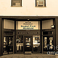 Historic Niles District in California Near Fremont . Niles Essanay Silent Film Museum.7D10683.sepia Print by Wingsdomain Art and Photography