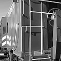 Historic Niles District in California Near Fremont . Western Pacific Caboose Train . 7D10622 . bw Print by Wingsdomain Art and Photography