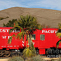 Historic Niles District in California Near Fremont . Western Pacific Caboose Train . 7D10718 Poster by Wingsdomain Art and Photography