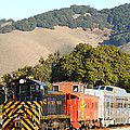 Historic Niles Trains in California . Old Southern Pacific Locomotive and Sante Fe Caboose . 7D10819 Poster by Wingsdomain Art and Photography