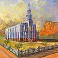 Historic St. George Temple Print by Jeff Brimley