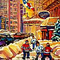 HOCKEY FEVER HITS MONTREAL BIGTIME Poster by CAROLE SPANDAU