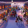 Holiday Shopper Ants Print by Robin Moline