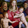 Holy Family with St Anne and the infant St John the Baptist Poster by Agnolo Bronzino