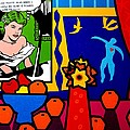 Homage to Lichtenstein and Matisse Poster by John  Nolan