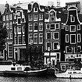 Homes of Amsterdam Print by Leslie Leda