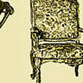 Horizontal poster of chairs in sepia Poster by Lee-Ann Adendorff