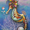 Horse of a Different Color Print by Tracey Levine