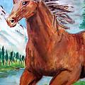 Horse Painting Poster by Bekim Axhami