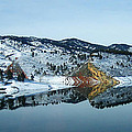 Horsetooth Reflections Print by Julie Magers Soulen