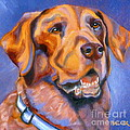 Hot Chocolate Lab Print by Susan A Becker