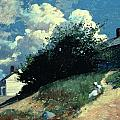 Houses on a Hill Poster by Winslow Homer