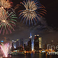 Hudson River Fireworks IV Print by Clarence Holmes