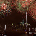 Hudson River Fireworks XII Print by Clarence Holmes