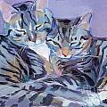 Hugs Purrs and Stripes Poster by Kimberly Santini