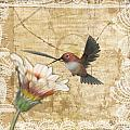 Hummingbird and Wildflower Poster by Lesley Smitheringale