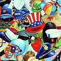 Hundreds of Hats Print by Hanne Lore Koehler