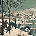 Hunters in the Snow Print by Pieter the Elder Bruegel